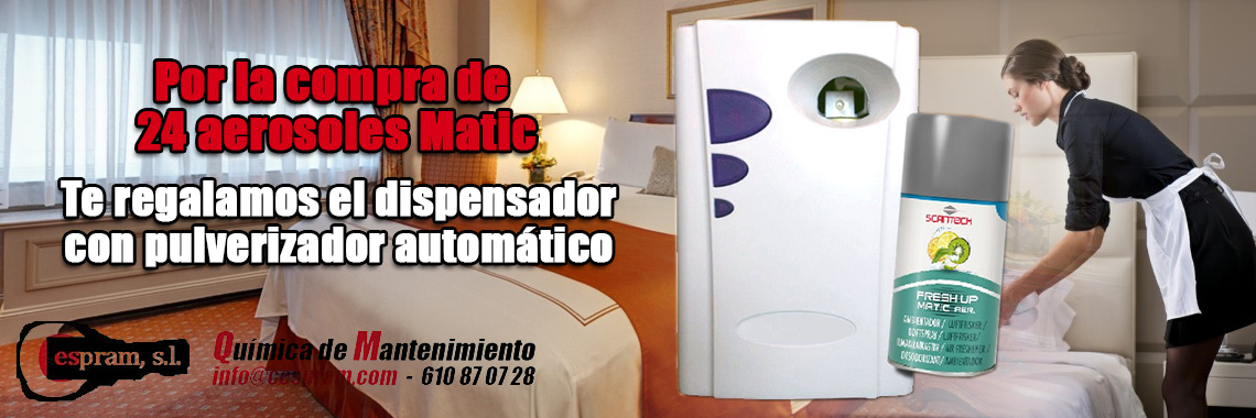 Oferta en aerosoles Matic
