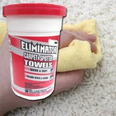 Eliminator Carpet. Towels. Toallitas limpiadoras de moquetas